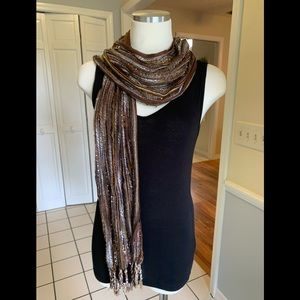 Sparkly brown & gold scarf